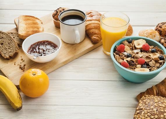 Café da manhã (*Pernoite)